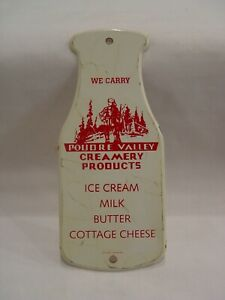 Poudre Valley Creamery Products Butter Ice Cream Milk Bottle Advertising Sign