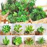 DIY Mini Green Fake Potted Plant Succulents Artificial Garden Office Home Decor
