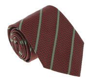 Missoni U4545 Red/Gray Repp 100% Silk Tie
