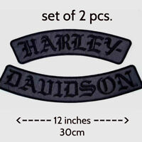 EXTRA LARGE Harley Davidson Gothic Rockers Patches Set