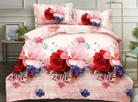 3D Effect Duvet Quilt Cover Bed Sets with Pillow Cases +Free Fitted Sheet NO.322
