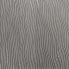 Neu Rasch Luxus Welle Streifen Muster Metallisch Silber Glitzer Mit Tapete