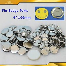 """4"""" 100mm 100sets Pin Badge Button Parts Supplies For pro button maker Diy Hot!"""