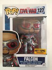 FUNKO POP MARVEL CAPTAIN AMERICA CIVIL WAR FALCON #127 HOT TOPIC EXCLUSIVE R2S