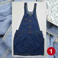Girls Denim Pinafore Dresses Dungarees 12-13Years Brand New 50% OFF(PD12-13)