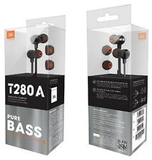 JBL T280A Pure Bass In-ear headphones with high performance drivers-Black