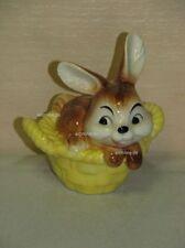 L00019_05 Goebel Porzellan Figur Hase Bunny Rabbit in Korb basket 34-822