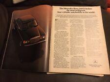 Vintage 1980s Mercedes Benz 240D Sedan Print Advertisement