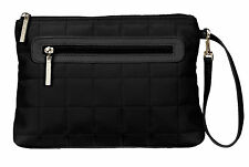 Diaper Clutch with Changing Pad By Kalencom-Quilted Nylon-Black