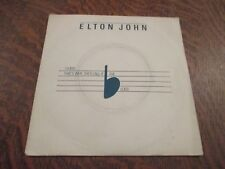 45 tours ELTON JOHN i guess that's why they call it the blues