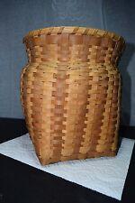 "1950s Cherokee North Carolina Native Oak Split Single Weave 10"" Storage Basket"