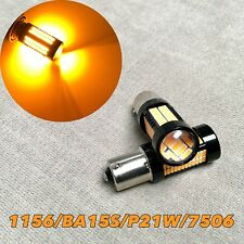 Rear Turn Signal 1156 BA15S 7506 3497 P21W 108 SMD epstar LED Amber W1 for GM JA