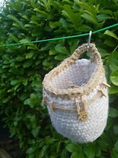 Hygge Inspired Clothes Peg Bag Handcrafted Crochet