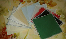 12 sq OF 4in x 4in OVER LOCKED 16 ct AIDA 8 colours IDEAL 4 CARD MAKING  ANCHOR