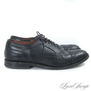 Allen Edmonds Made in USA Black Leather 6115 Strand Perforated Shoes 9 EEE NR