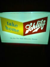 Vintage 1954 Schlitz Beer Lighted Window Advertising Sign
