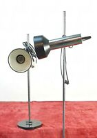 COUPLE OF OFFICE LAMPS. CHROME METAL. CIRCA 1950.