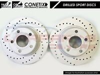 FOR RANGE ROVER L405 L494 FRONT DRILLED PERFORMANCE 380mm BRAKE DISCS PAIR