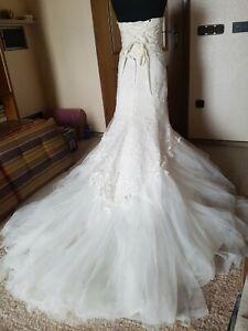 Hochzeitskleid Brautkleid Mermaid tüll gr.36 38 Traumkleid Meerjungfrau Schleppe