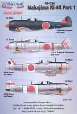Lifelike Decals 1/48 NAKAJIMA Ki-44 SHOKI TOJO Fighter Part 1