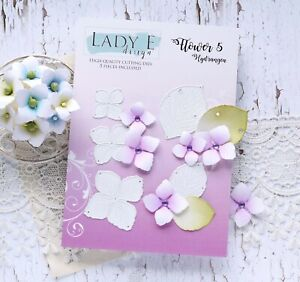 Lady E Design Flower 5 Hydrangea Cutting Die Set, Flower Making, Foam Flowers