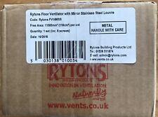 Rytons Floor Air Vent Mirror Steel Finish Shiny like Chrome Silver 100cm2 HETAS