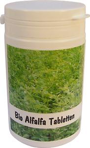 SANOS Bio Alfalfa Tabletten 200g / 500 Tabletten aus eigenem Anbau v. Bodensee