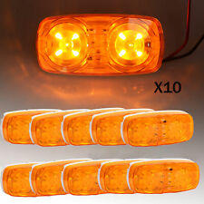 10X Trailer Amber Marker LED Light Double Bullseye 10 Diodes Clearance Lamp