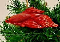 "FIGHTING FISH RED CHRISTMAS ORNAMENT 3"" SLAVIC TREASURES"