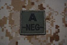 G015 grade militaire galon Armée insigne Airsoft Groupe Sanguin A Négatif