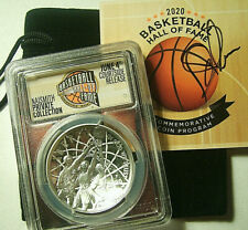 2020-P $1 Basketball Hall Of Fame Silver Proof Pcgs Pr70 Fdi Court Side Release
