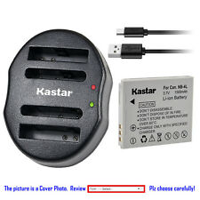 Kastar Battery Dual Charger for Canon NB-4L & Digital IXUS 130 Digital 40 / 50