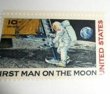 America Expores Space Exportation US Postage Stamps Astranaut Man On the Moon