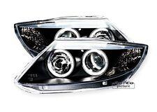 AuCo Highpower LED Angel Eyes Scheinwerfer Set Schwarz passend für BMW Z4 E85