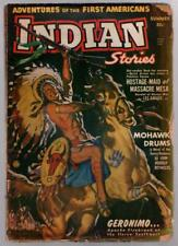 Indian Stories 1950 Summer FIRST issue War Chief on Horseback