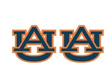 1 Pair University of Auburn Tigers Full Color Corn Hole Board Decal Stickers