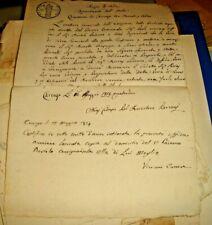 carta bollata CENT. 25 REGNO D'ITALIA - usata 16.5.1814 periodo Napoleonico