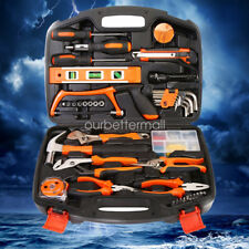 100 Pieces Household Tools Home Tool Set Kit Box Repair Hard Case DIY Handy Auto