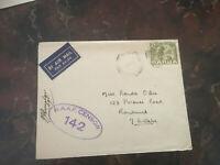 PAPUA CAT.#99 0N RAAF CENSORED ENVELOPE