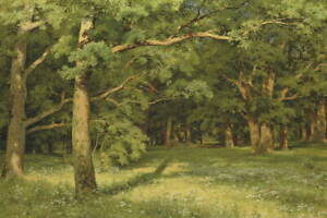 Ivan Shishkin The Forest Clearing Giclee Canvas Print Painting Poster LARGE SIZE