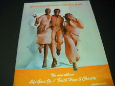 Faith Hope & Charity .the greatest celebration of all Vintage Promo Poster Ad