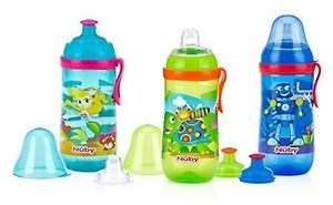 NUBY SIPPER POP-UP SPOUT - 18M+( buy 1 get 1 free) SPEICAL for toddlers