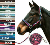 HKM Nylon Halter with Knitted 180 cm and Snap Hooks