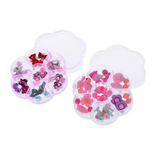 14 Pairs Girls Earrings Box Set Clip-on Jewelry Kids Accessories Birthday Gift