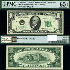 FR. 2019 D $10 1969-A Federal Reserve Note Cleveland D-A Block Gem PMG CU65 EPQ