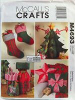 McCalls M4693 Crafts Fat Quarters To Make Holiday Christmas Decorations Pattern