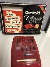 Vintage Osmiroid Calligraphy Desk Set: 1 Pen, Nibs - 22 Carat Gold Plated & Book