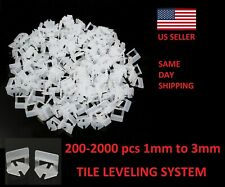 200-2000X Clip Tile Leveling System Kit Floor Wall 1-3mm Tile Spacer Tiling Tool