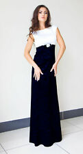 New Ladies Womens Wedding  Ball Gown Cocktail Evening Prom Blue Maxi Party Dress