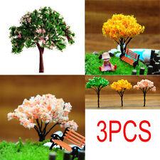 3Pcs Mini Tree Miniature Dolls House Garden Diy Accessory Fairy Ornament Tw141